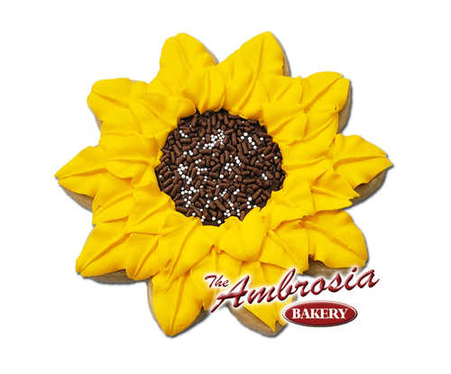 Decorated Sunflower Cut-Out Cookie