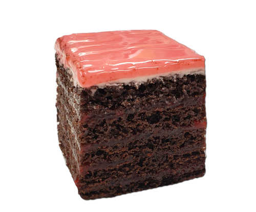 Strawberry Doberge Squares - Chocolate Cake