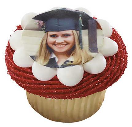 Graduation Photo Cupcakes (One Dozen)