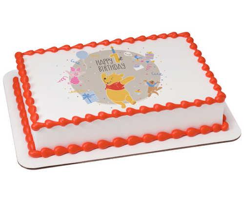 Disney - Winnie the Pooh Happy 1st Birthday PhotoCake®