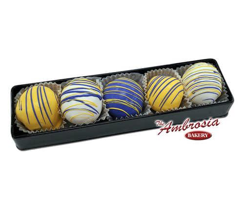 Purple & Gold Cake Balls - Gift Box of 5