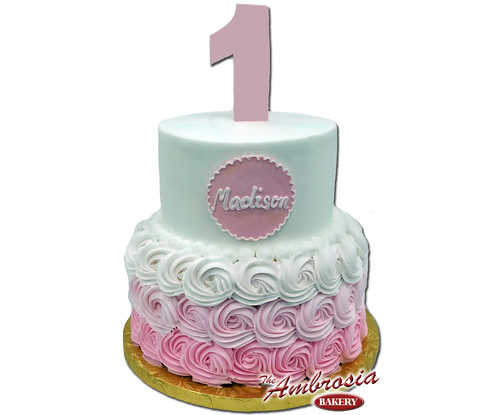 2 Tier Rosettes with Ombre Fade