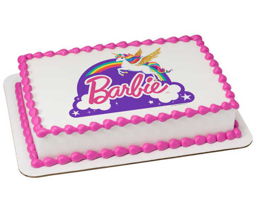 Barbie™ Dreamtopia - Just Believe PhotoCake® Image