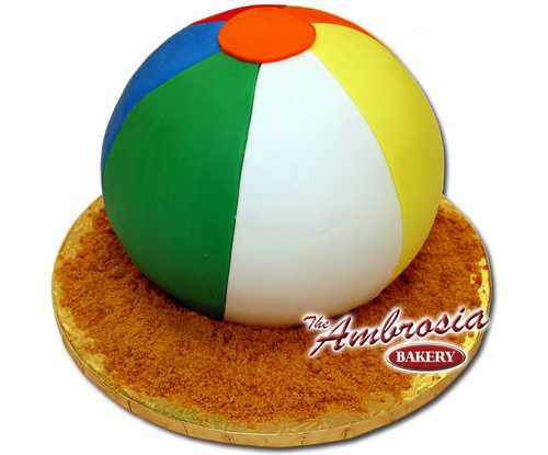 Fondant 3D Beach Ball