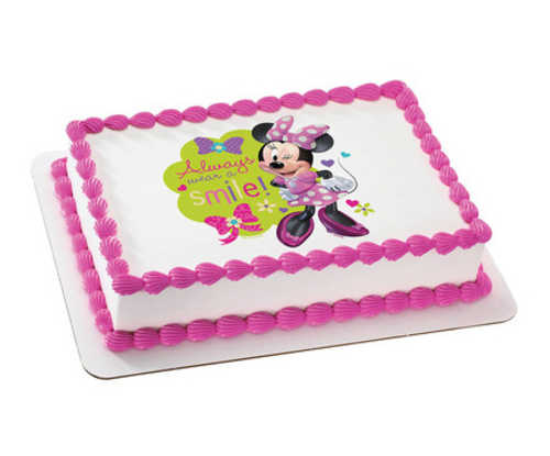 Disney Minnie Mouse - Always wear a smile! PhotoCake®