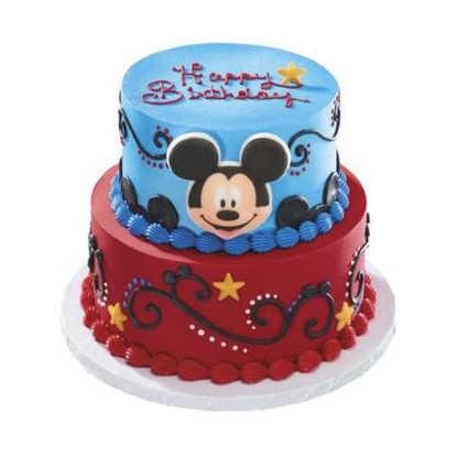 Disney's Mickey Mouse & Stars 2 Tier Cake