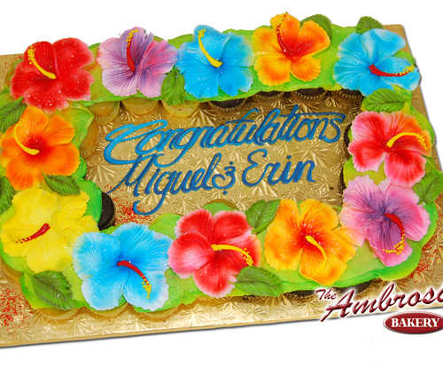 Hawaiian Luau Cupcake Cake