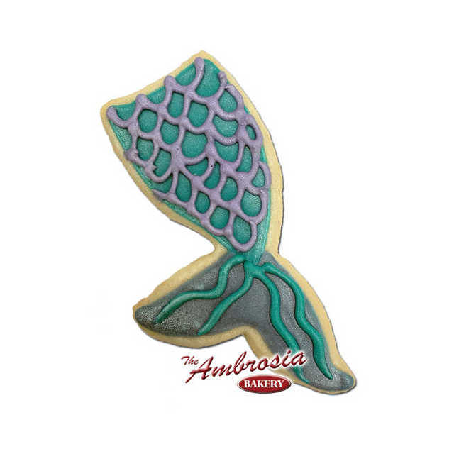 Decorated Mermaid Tale Decorated Cookie