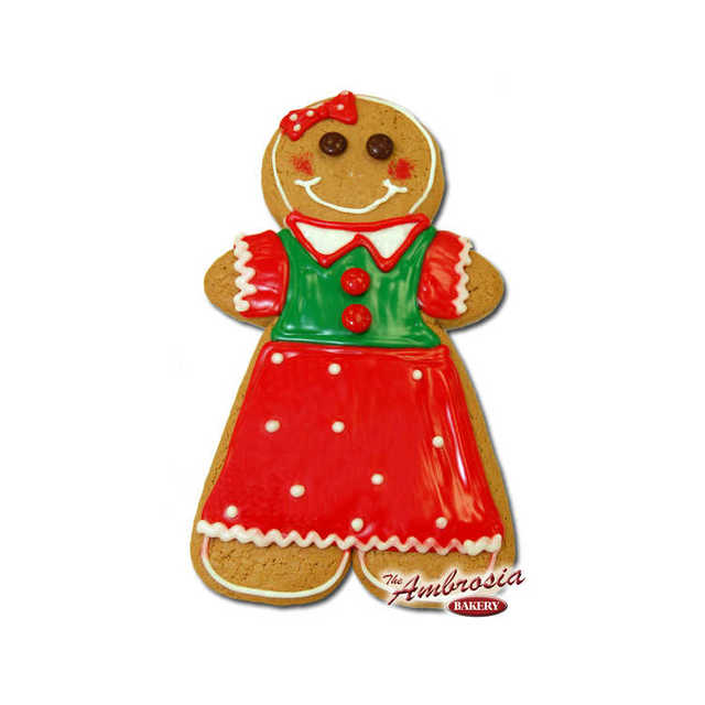 """Decorated Large Gingerbread """"Girl"""" Cut-Out Cookie!"""