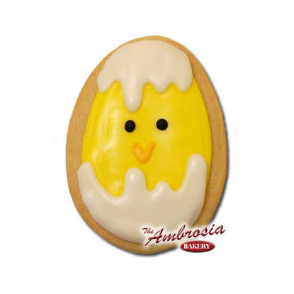 Easter Chick in Egg Cut-Out Cookie