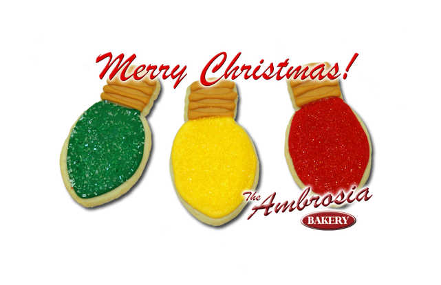 Christmas Light Cut-Out Cookies (set of 3)