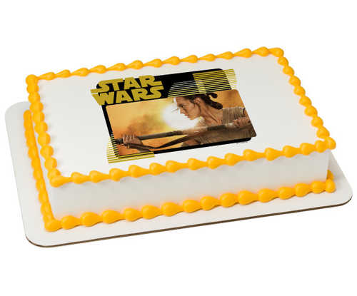 Disney - Star Wars™: The Force Awakens Rey PhotoCake® Image