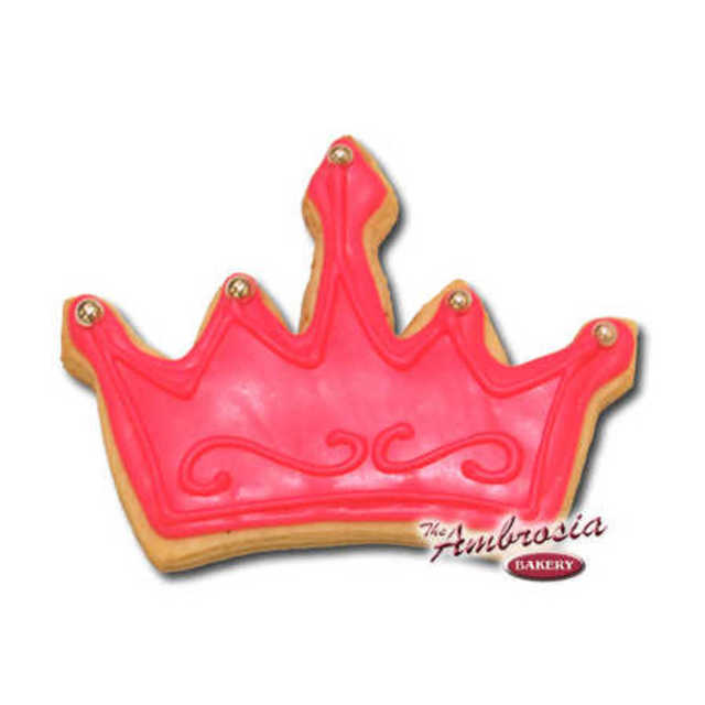 Decorated Crown Cut-Out Cookie