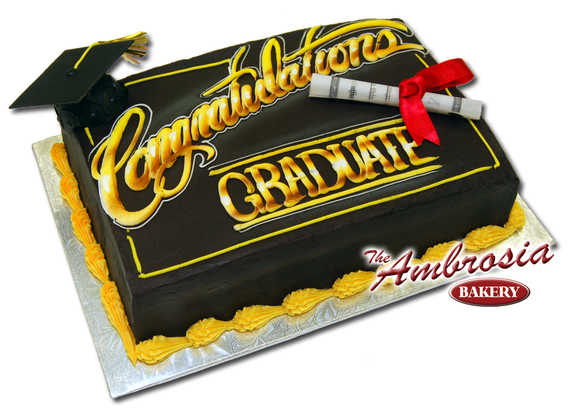 Airbrushed Graduation Cake