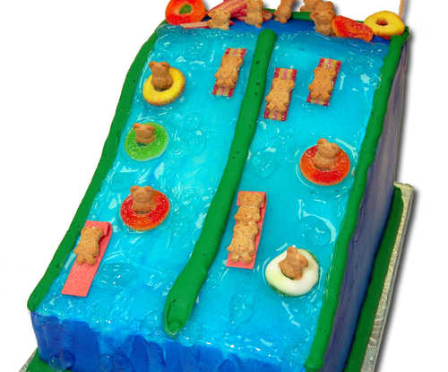 Waterslide Cake
