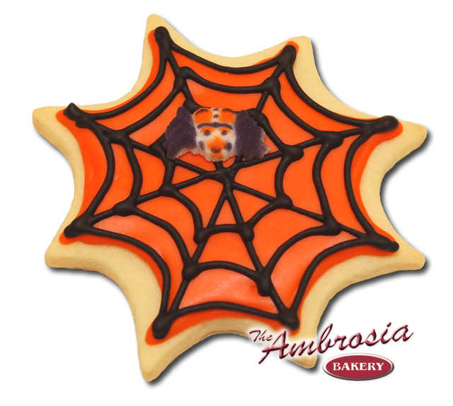 Decorated Spider Web Cut-Out Cookie