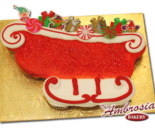 Santa's Sleigh (Dozen Cupcakes)