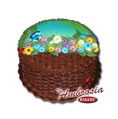 Chocolate Spring Basket Weave