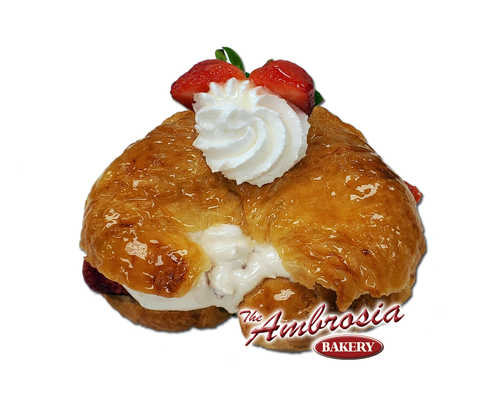 Fresh Strawberry Croissant