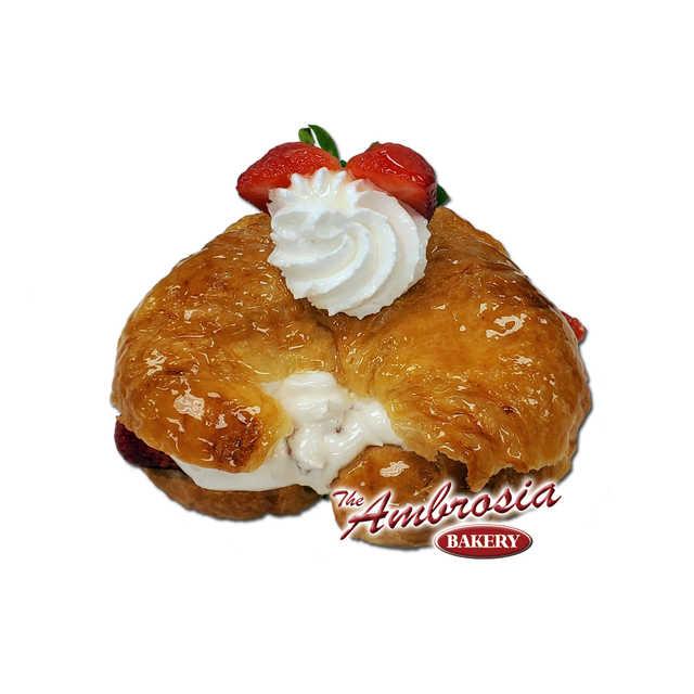 Fresh Strawberry Croissant