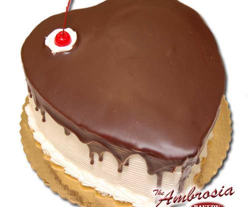 Heart Shaped Half and Half Cake