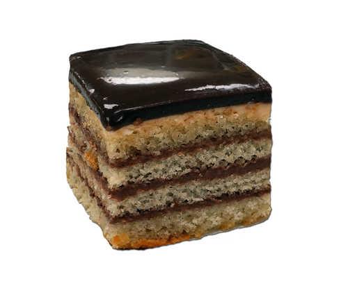 Chocolate Doberge Squares - White Almond Cake