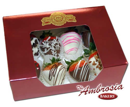8 Assorted Chocolate Dipped Strawberries