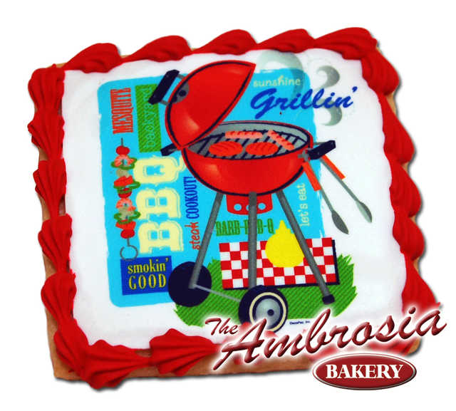 Decorated Grillin' Edible Image® Cookie