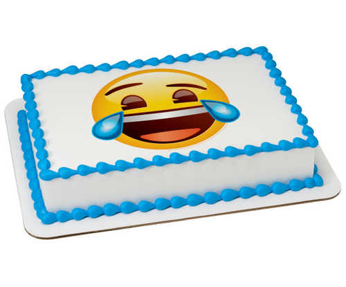 Emoji Tears of Joy PhotoCake庐 Image