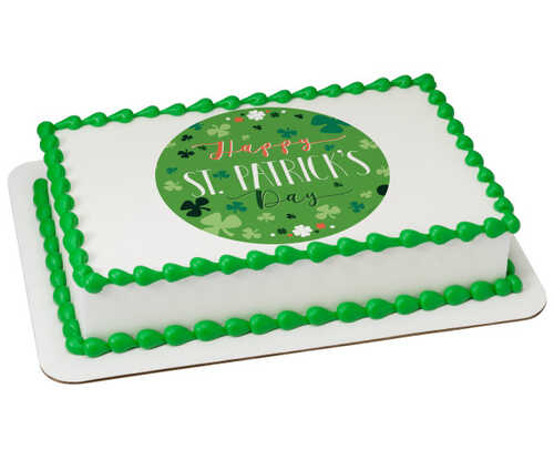 Happy St. Patrick's Day PhotoCake® Edible Image®