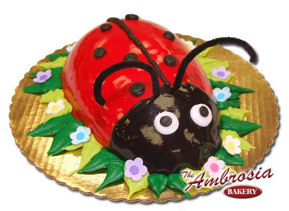 Ladybug with Petit Four Icing