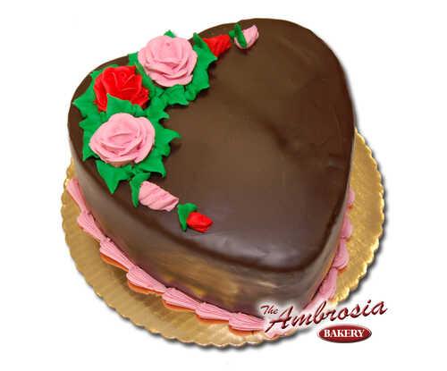 Heart Shaped Chocolate Doberge Cake