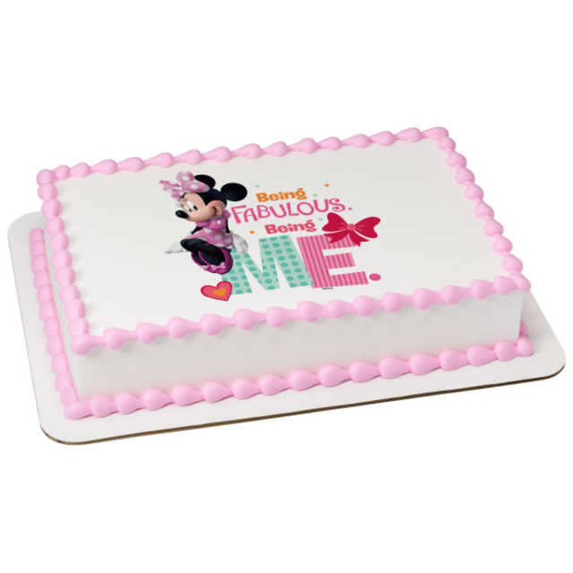Disney - Minnie Being Me PhotoCake® Image