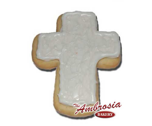 Decorated Cross Cut-Out Cookie - Small