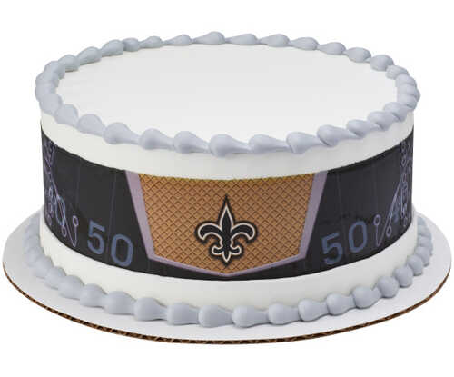 NFL - New Orleans SAINTS - Team Strips PhotoCake® Edible Image®