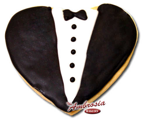 Decorated Tuxedo Cut-Out Cookie