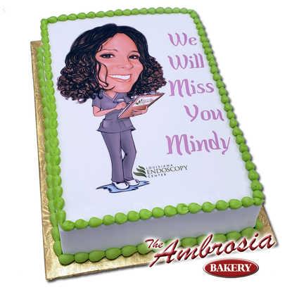 Ambrosia Caricature Cake