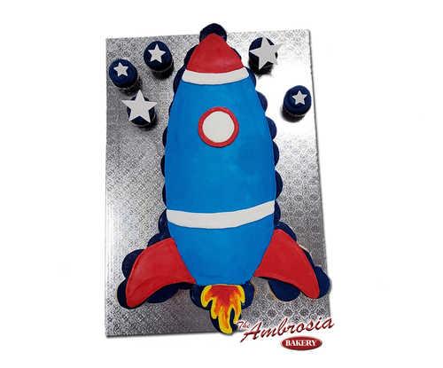 Rocket Ship Cupcake Cake