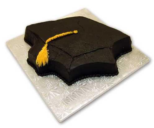 Cut-Out Graduation Cake