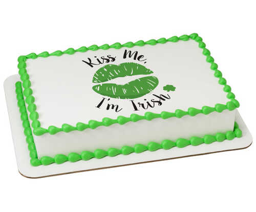 Kiss Me I'm Irish - St. Patrick's Day PhotoCake® Edible Image®