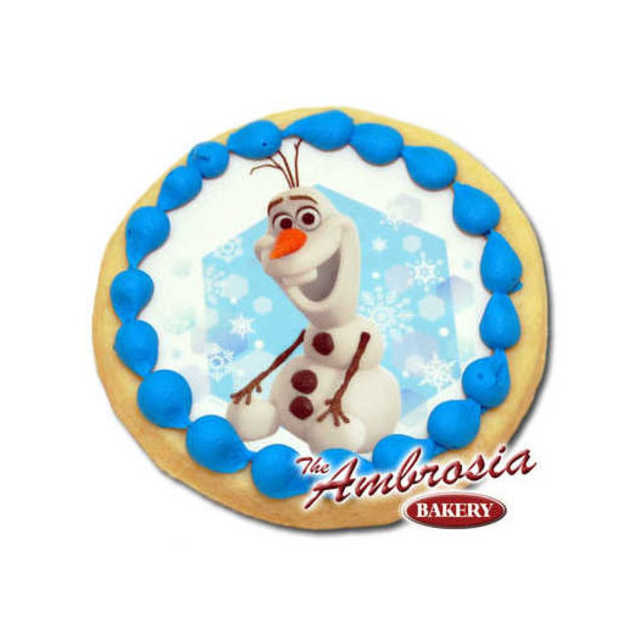 Decorated Disney FROZEN - Olaf in Snow Edible Image® Cookie