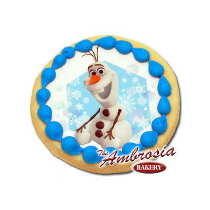 Disney FROZEN - Olaf in Snow Edible Image® Cookie