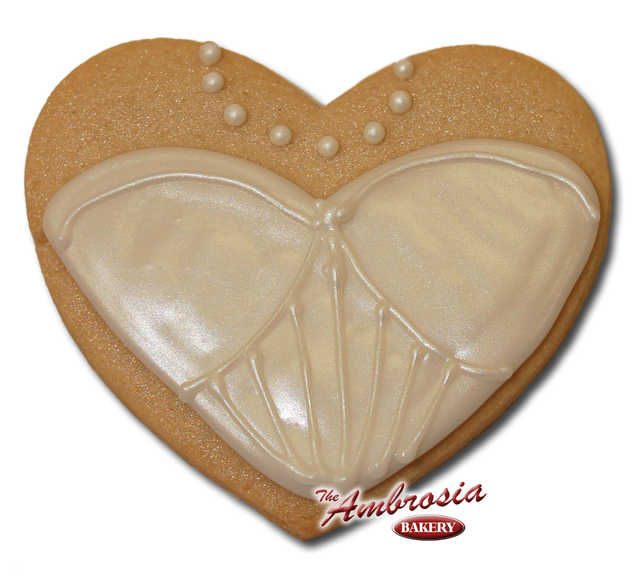 Decorated Wedding Dress #3 Cut-Out Cookie