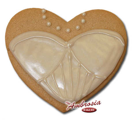 Wedding Dress #3 Cut-Out Cookie
