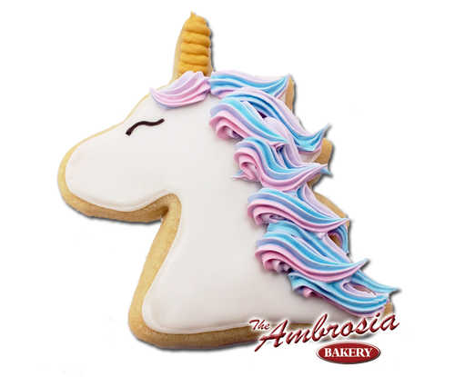Decorated Unicorn Cut-Out Cookies