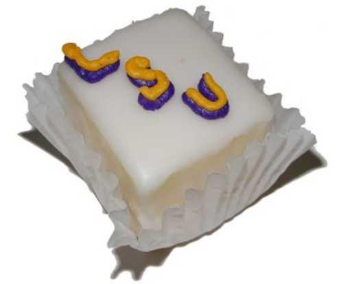Petit Four - White Cake - with College/Logo