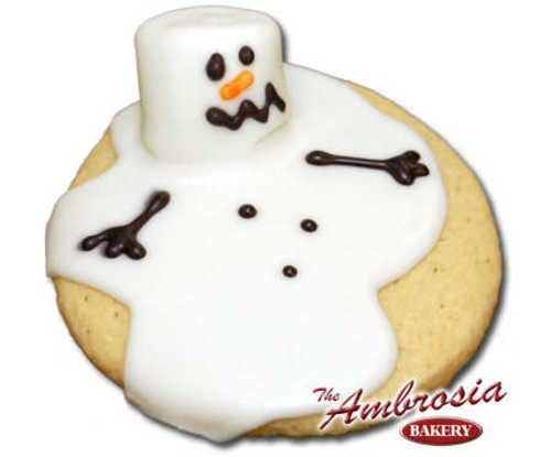 Decorated Melted Frosty Cut-Out Cookie