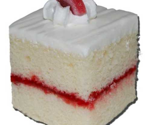 Cake Squares - White Cake with Raspberry Filling