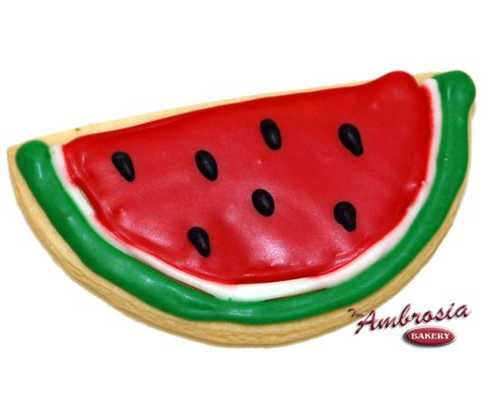 Decorated Watermelon Cut-Out Cookie