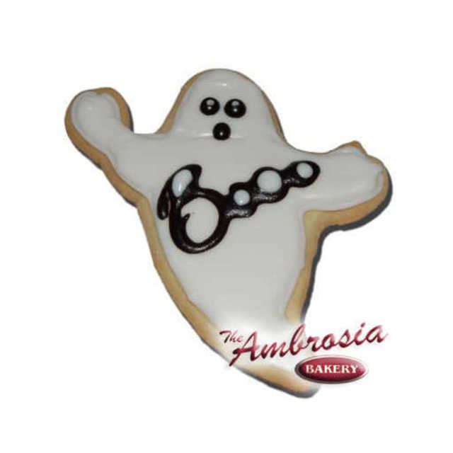 Decorated Ghost Cut-Out Cookie